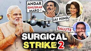Akshay Kumar Ajay Devgn Sanjay Dutt Salutes Indian Air Force For Surgical Strike 2 On Pakistan