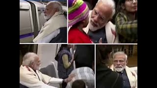 Watch- PM Modi takes Delhi Metro ride for ISKCON event