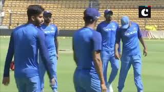 India vs Aus: Team India sweat it out ahead of match