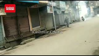 *NIA RAIDS: Massive Clashes erupted at Maisuma*Soon after the NIA raid on the JKLF chief Muhammad