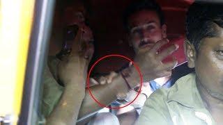 Tiger Shroff Sister Mobbed By Fans Inside Autorickshaw