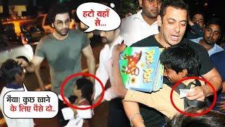 Ranbir Kapoor And Salman Khan Behaviour With Beggars | Who WON Your Heart?