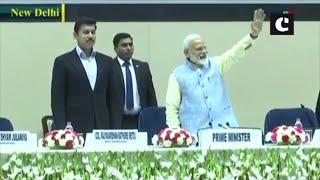 PM Modi arrives at 'National Youth Parliament Festival 2019' at Vigyan Bhavan