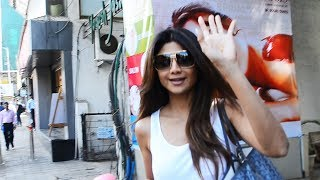 Shilpa Shetty Kundra Spotted At IOSIS Saloon Khar