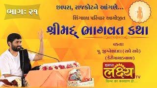 શ્રીમદ ભાગવત કથા    Pu. Jigneshdada (Radhe Radhe)    Chhapra    Rajkot    Part -21