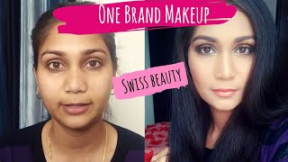 Swiss Beauty One Brand Makeup | Swiss Beauty High Coverage Foundation | Black Smokey Halo Eyes