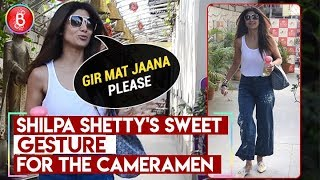 Shilpa Shettys Sweet Gesture For The Cameramen