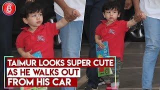 Taimur Looks Super Cute As He Walks Out From His Car