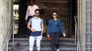 Shahid Kapoor With Wife Mira Rajput Spotted Outside Gym | I Think Fitness