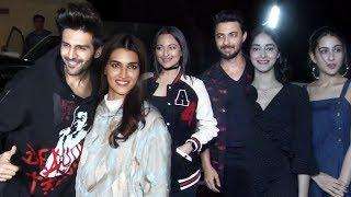 Luka Chuppi Screening | Kartik Aaryan Kriti Sanon Sara Ali Khan, Ananya Pandey, Sonakshi, Aayush