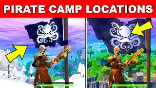 visit all pirate camps 7 locations fortnite season 8 week 1 challenge - giant face locations fortnite