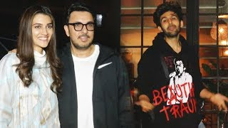 Luka Chuppi  Stars Kriti Sanon & Kartik Aryan Spotted At Soho House Juhu