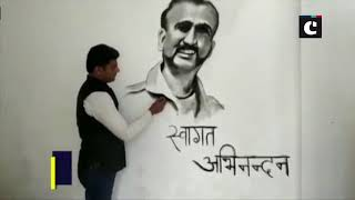 Artists welcome WC Abhinandan with their art ahead of his return