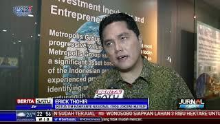 Kunjungi Redaksi Beritasatu, Erick Thohir Bicara Hoax Hingga Persiapan Debat