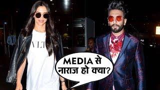 Stylish Deepika Padukone And Ranveer Singh Spotted At Mumbai Airport