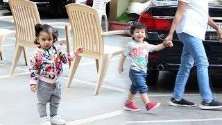 Soha Ali Khan Daughter Inaaya Khemu & Taimur Ali Khan Spotted At Bandra