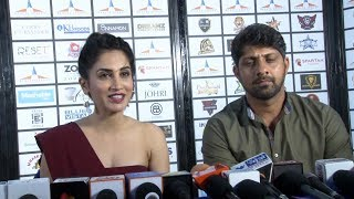 Smita Gondkar And Indian Cricketer Amit Dani At Wasib Peshimam 's Dreamz Premiere League - Season 1