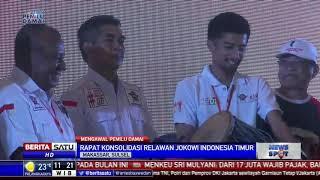 Ribuan Relawan Jokowi di Makassar Gelar Konsolidasi Pemenangan