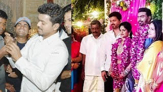 Vijay at personal driver Rajendran's Daughter wedding