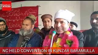 Farooq Ahmad Shah addressing convention at Kunzar Baramulla.