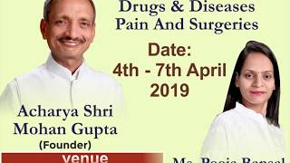 4-7th April 2019 Mumbai Pune 4 days camp announcement, Get Rid of Drugs & Disease in 4 days by food