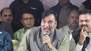Delhi Minister Gopal Rai Addresses at Inaugural Function of Development work at Azadpur Mandi