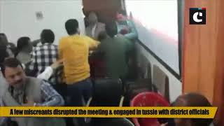 Ruckus erupts, journalists heckled during district committee meeting in UP's Unnao