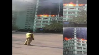 Fire breaks out at CGO Complex in Delhi