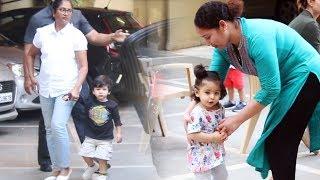 Taimur Ali Khan And Soha Ali Khan Daughter Inaaya Khemu Spotted At Bandra