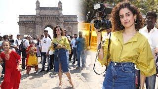PHOTOGRAPH Movie Promotion | Sanya Malhotra Turns Photographer At Gateway