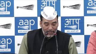 AAP Delhi Convenor Gopal Rai Made an Important Announcement on Delhi Statehood
