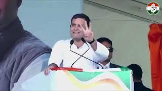 Congress President Rahul Gandhi addresses public meeting in Kangra, Himachal