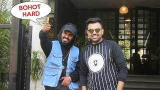 Emiway Bantai With DJ Chetas Meet For New Project Discussion At Soho House Juhu