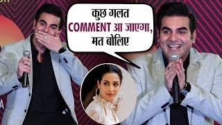 Arbaaz Khan giggles on Malaika Arora's question