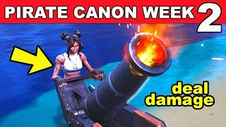 Deal Damage To Opponents with a Pirate Cannon Fortnite Season 8 Week 2 Challenges Guide!