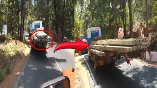 Trucks Dangerously Carrying Protruded Poles In Cancona, no Action From Transport Dept