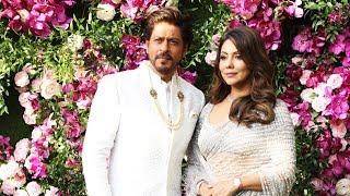 Shahrukh Khan With Wife Gauri Khan Arrives At Akash Ambani-Shloka Mehta Wedding