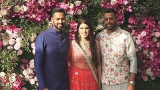 Hardik Pandya And Krunal Pandya At Akash Ambani-Shloka Mehta Wedding