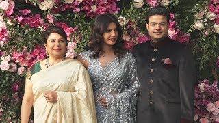 Priyanka Chopra With Mom And Brother At Akash Ambani-Shloka Mehta Wedding