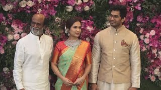 Rajnikanth With Daughter Soundarya And Son-In-Law At Akash Ambani-Shloka Mehta Wedding