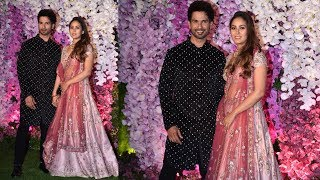 Shahid Kapoor With Wife Mira Rajput At Akash Ambani And Sholka Mehta Wedding Reception