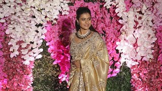 Beautiful Kajol At Akash Ambani And Sholka Mehta Wedding Reception