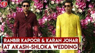 Ranbir Kapoor and Karan Johar ARRIVES At Akash Ambani- Shloka Mehta Wedding