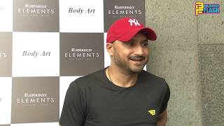 Harbhajan Sngh & Mohit Marwah At Rustomjee Elements Gym Launch