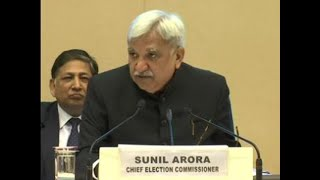 2019 General electionsto be held in 7 phases- CEC Sunil Arora