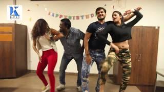 #Awara Balam success party & #Arvind Akela Kallu & Yamini singh #Birthday Party - Live Dance