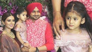 Harbhajan Singh And Geeta Basra CUTE Daughter Hinaya At Akash-Sholka Mehta Wedding Reception