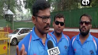 Home Minister Rajnath Singh meets World Cup Winner Indian Blind Cricket team