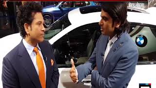 Sachin Tendulkar launches BMW 6 Series GT at Auto Expo 2018