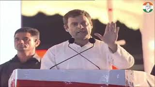 Congress President Rahul Gandhi addresses public meeting in Ranga Reddy, Telangana